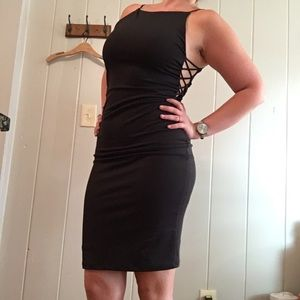 Lulu's black cutout fitted cocktail dress